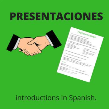 saludos y presentaciones / introductions and greetings