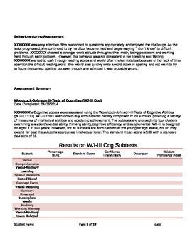 sample dianostic report