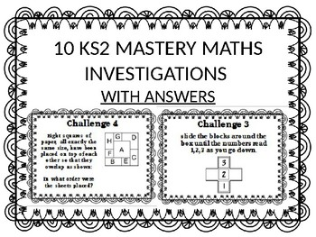 sample of maths mastery investigations