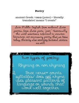sample of original poetry concepts- ESSENTIALS TO COMPOSING