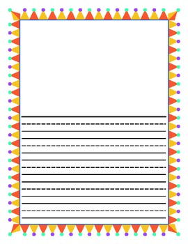 sample primary lined paper
