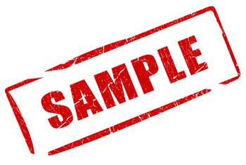sample test product