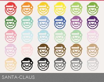 santa-claus Digital Clipart, santa-claus Graphics, santa-c