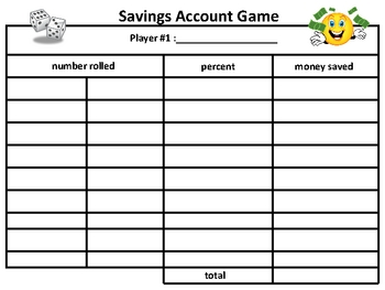 savings account game (harcourt brace math grade 5)