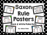 Saxon Phonics Rule Posters {black & white polka dots}