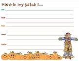 scarecrow 5 senses descriptive writing graphic organizer