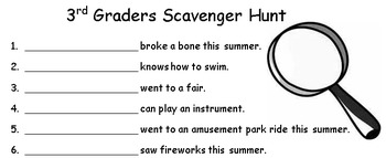scavenger hunt ice breaker