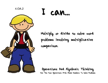 school Theme 4th Fourth Common Core Posters Math Mathematics Posters