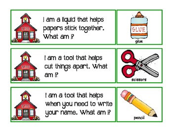school tools: vocabulary riddles
