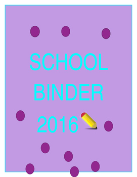 school year binder cover