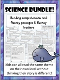 science fluency and comprehension leveled reading passages bundle