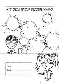 Science notebook coverpage A4