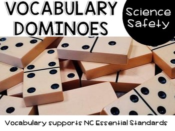 science safety - vocabulary dominoes