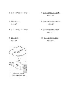 scientific notation handout and practice problems