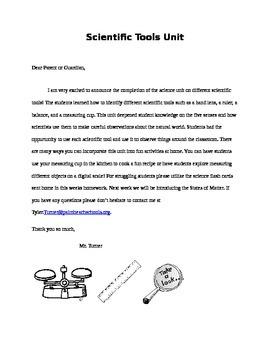 scientific tools letter