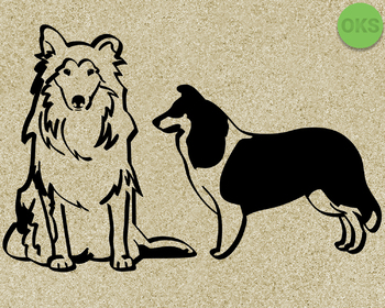 scotch collie SVG cut files, DXF, vector EPS cutting file instant download