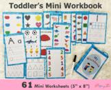 Toddler Activity Book | Mini Workbook | SKU0027