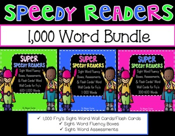 Sight Word Fluency Bundle {Fry's 1-1,000}