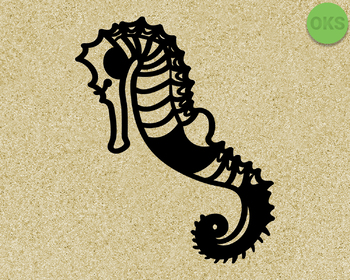 seahorse SVG cut files, DXF, vector EPS cutting file instant download