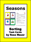 Seasons Cards and Worksheets Activities
