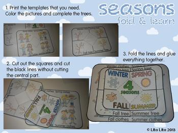 seasons fold and learn + label!