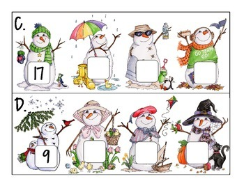 seasons numeral sequence: counting back within 20