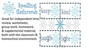 {Temp. Sale}* Third Grade:Winter Theme-Spelling and Vocabulary