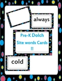 second grade Dolch Site words Cards