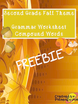 second grade fall compound words worksheet FREE