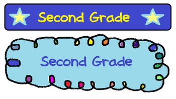 second grade heading