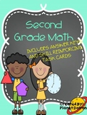 second grade math skills and math posters