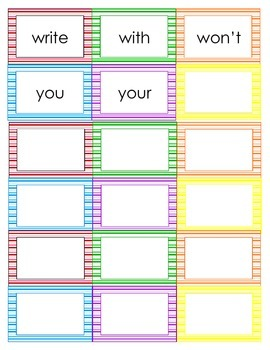 second grade word wall bright stripey stripes