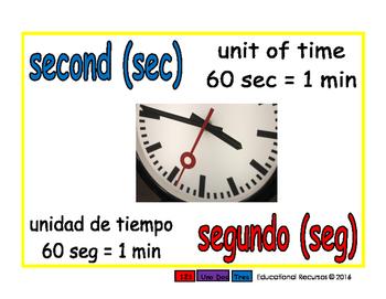 second/segundo meas 1-way blue/rojo