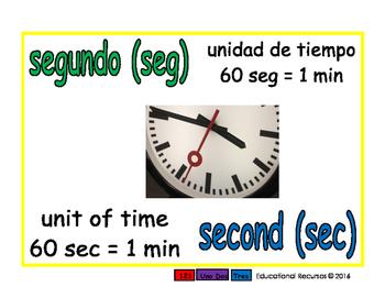 second/segundo meas 1-way blue/verde