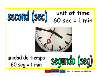 second/segundo meas 1-way blue/verde