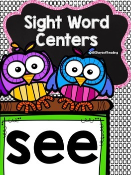 Sight Word Printable Center Activities {see}