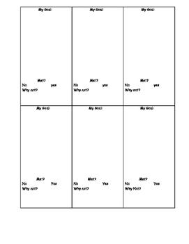 self check ADHD goal monitoring chart