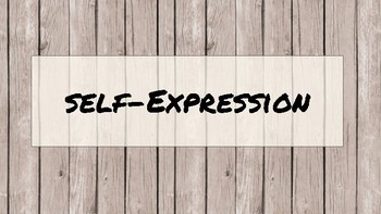 self-expression activity - I Statement