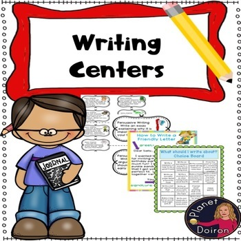 Writing center ideas: letter postcard poetry creative writing