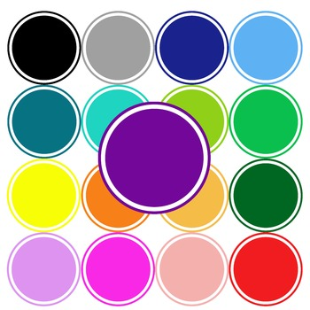 seller's tool - 40 circles clip art