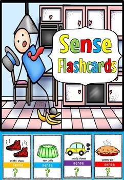 senses flash cards