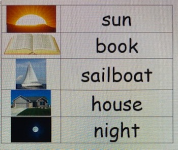 senses vocabulary words with pictures
