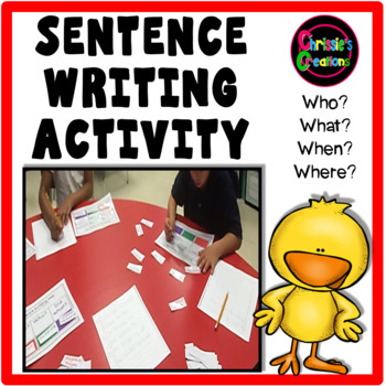 sentence writing center activity