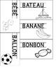 set 1 : carte de vocabulaire pour l'Abécédaire