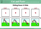 Cut and Paste, sequencing, speech therapy, special education, worksheet, FREEBIE