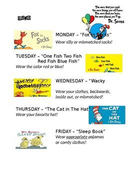 seuss week flyer
