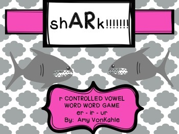 sh - AR - k!!!  R- controlled vowel Word Work