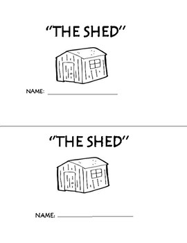 sh The Shed Phonogram Early Emergent Reader Book