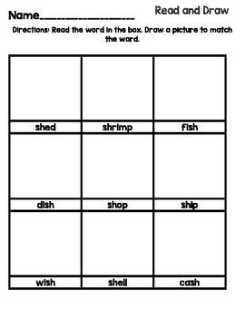 sh Word Work Packet