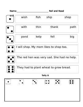 sh and th partner reading phonics game